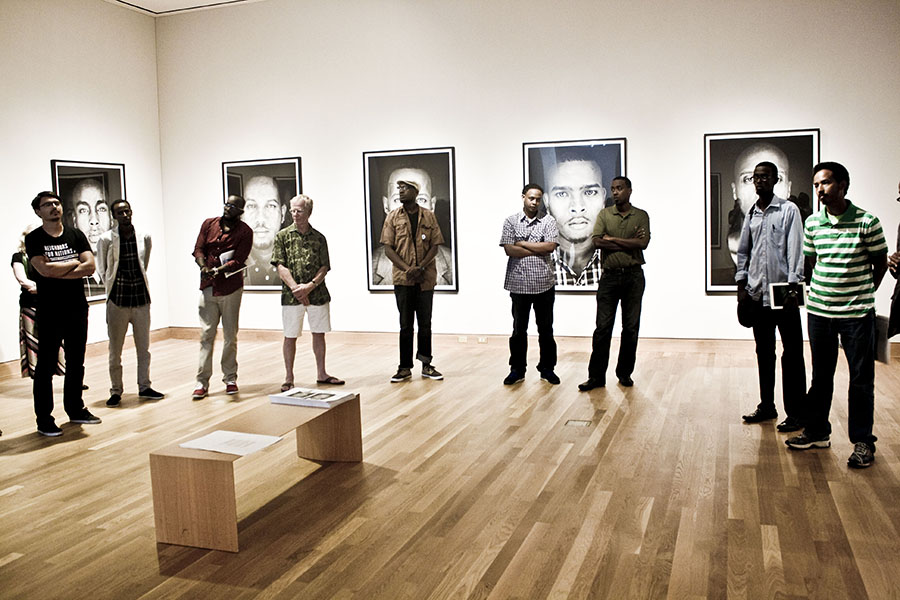 Opening 7.13.2013 in the Edith Carlson Gallery at the Weisman Art Museum Mpls, mn       Photo Courtesy Kaamil haider